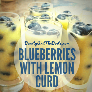 Blueberries with Lemon Curd BeautyAndTheBeets