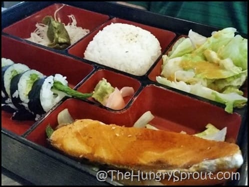 Izziban Salmon bento box