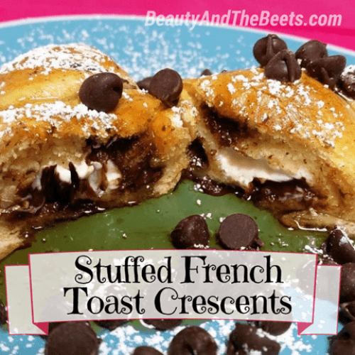 Stuffed French Toast Crescents Beauty and the Beets