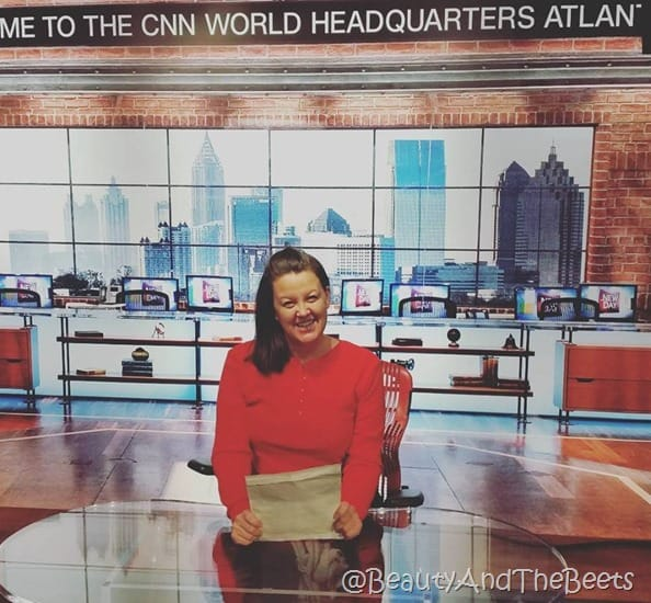 CNN Anchor Beauty and the Beets