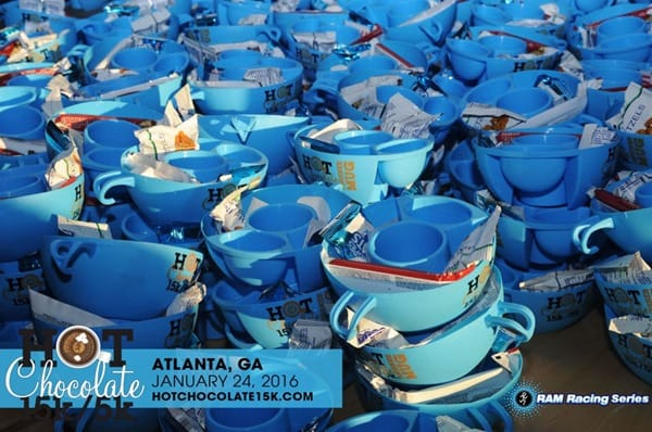 Hot Chocolate Atlanta 15k mugs 2016