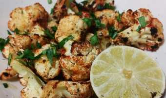 Chili Lime Roasted Cauliflower + WIAW