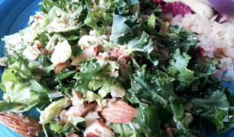 Kale and Shredded Brussels Sprouts Salad