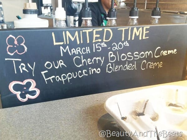 Cherry Blossom Frappuccino Starbucks Beauty and the Beets