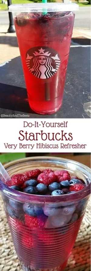 Do-it-yourself Starbucks very berry hibiscus refresher Beauty and the Beets