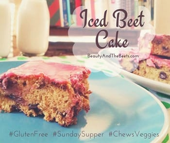 Iced Beet Cake Beauty and the Beets #SundaySupper (1)