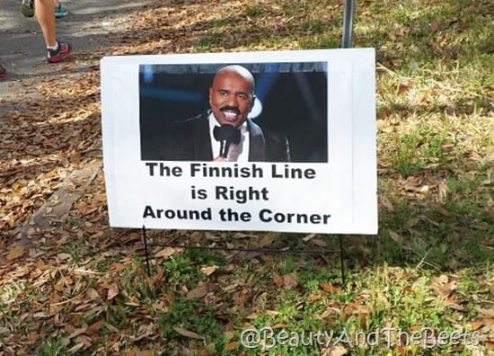 Steve Harvey the Finnish Line Beauty and the Beets