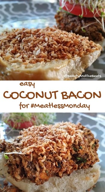 easy Coconut Bacon for #MeatlessMonday Beauty and the Beets