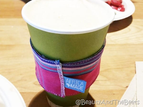 Africa Made coffee sleeve Whole Foods Charleston Beauty and the Beets