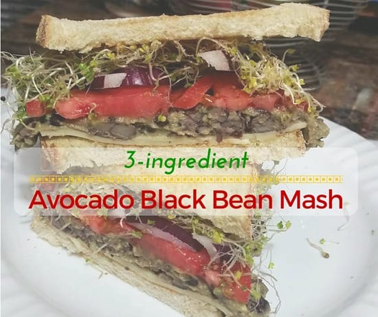 Beauty and the Beets Avocado Black Bean Mash (1)