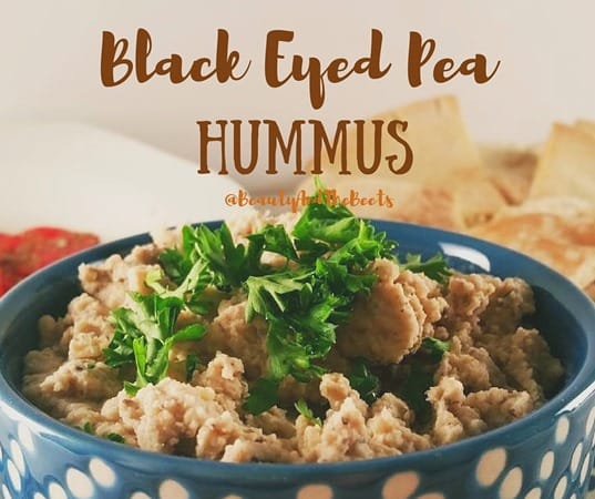 Beauty and the Beets Black Eyed Pea Hummus