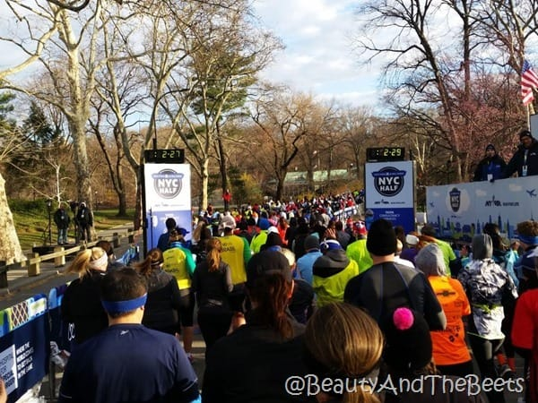 United Airlines NYC Half start Beauty and the Beets