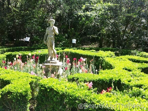 statue gardens Magnolia Plantation Beauty and the Beets