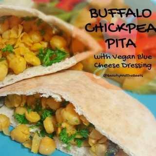 Buffalo Chickpea Pita Sandwiches