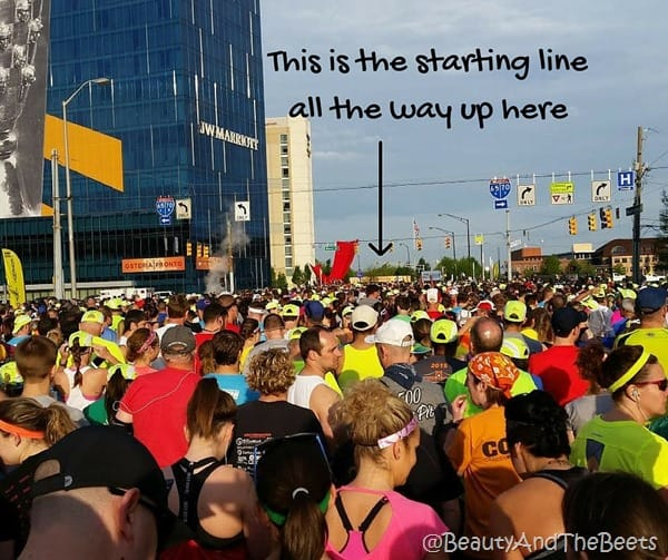 #IndyMini starting line Beauty and the Beets