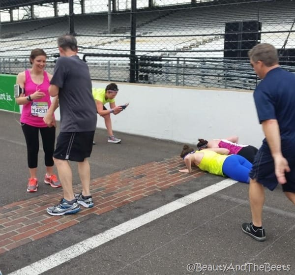 Kissing the bricks IndyMini Beauty and the Beets
