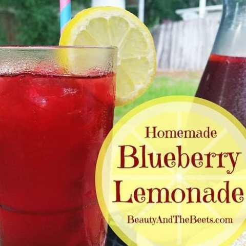 Homemade Blueberry Lemonade #SundaySupper