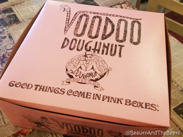 pink box VooDoo Doughnuts Austi Beauty and the Beets