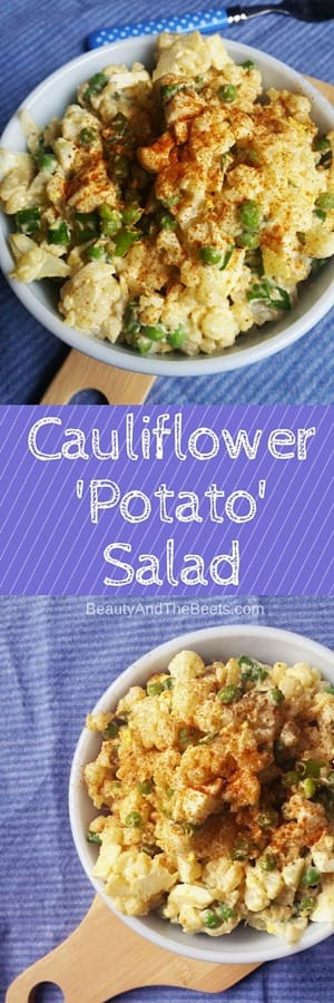 Cauliflower'Potato'Salad recipe by Beauty and the Beets
