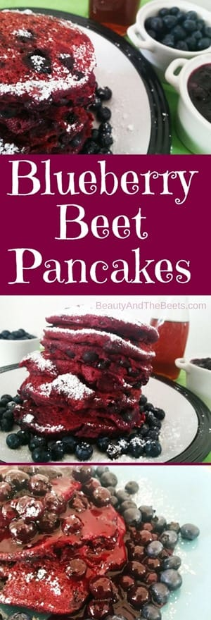 BlueberryBeetPancakes recipe Beauty and the Beets