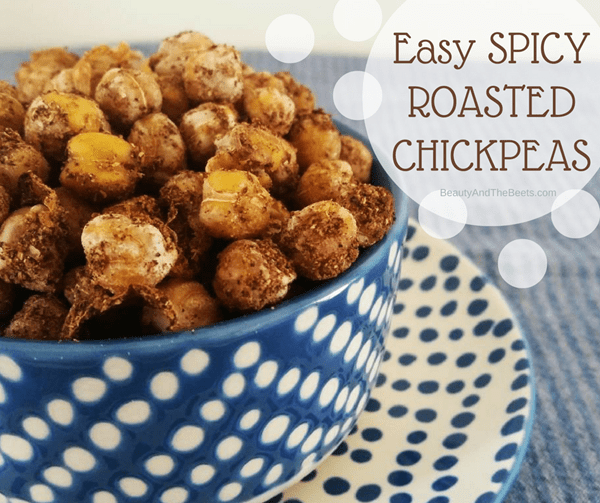 Beauty and the Beets Easy Spicy Roasted Chickpeas