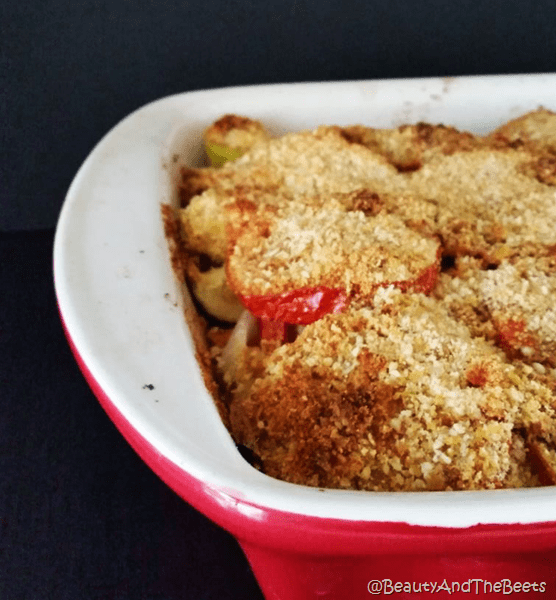 Easiest Roasted Tomato Vegetable Casserole Beauty and the Beets