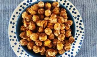 Easy Spicy Roasted Chickpeas recipe