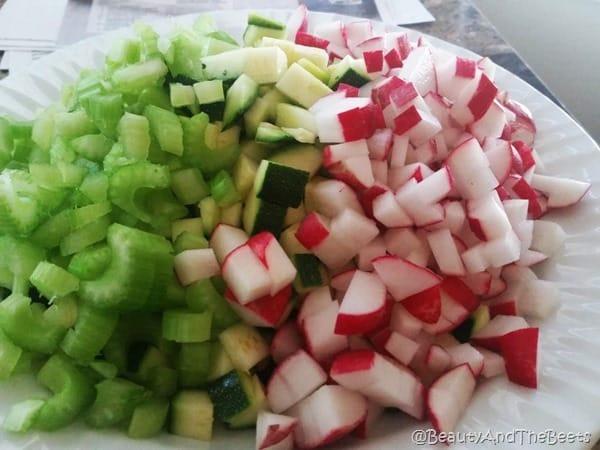 Celery, zucchini, radish, Beauty and the Beets
