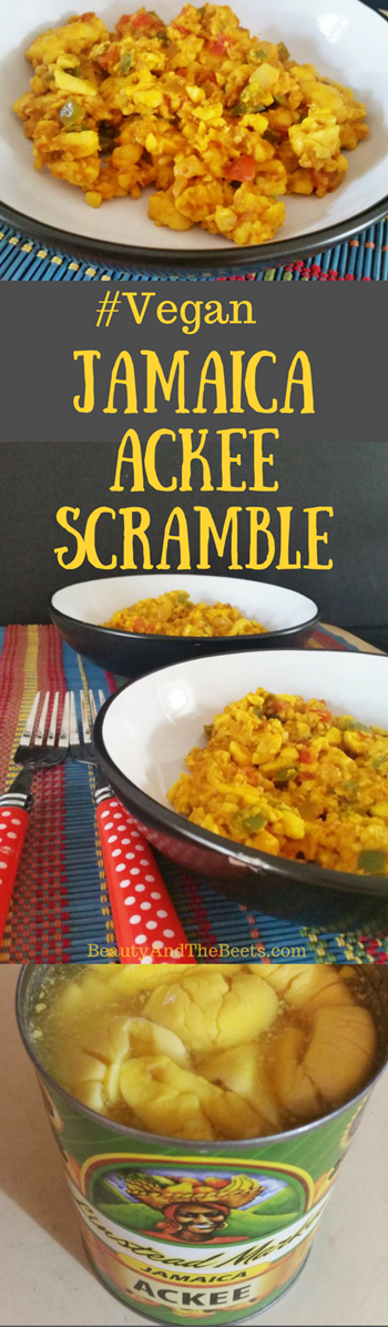 Beauty and the Beets Jamaica Ackee Scramble
