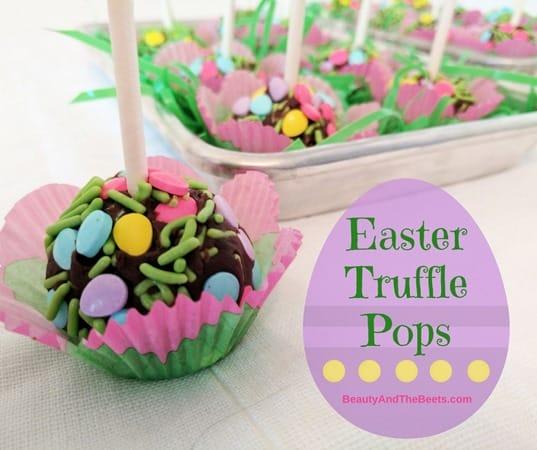 BeautyandtheBeets Easter Truffle Pops