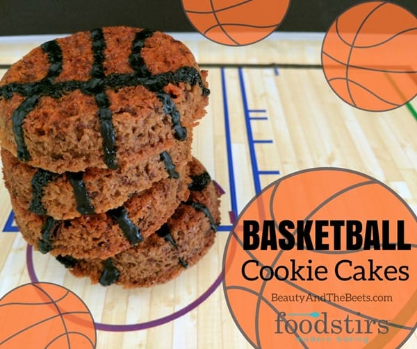 Foodstirs Basketball Cookie Cakes Beauty and the Beets