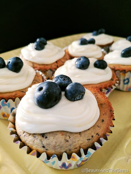 Blueberries Muffin Cupcakes Beauty and the Beets