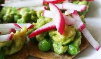 Pea, Avocado and Radish Stack