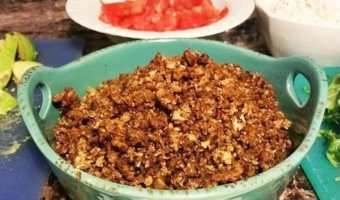 Cauliflower Walnut Crumbles – Vegan Meat
