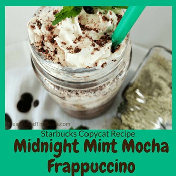 Midnight Mint Frappuccino copycat recipe Beauty and the Beets