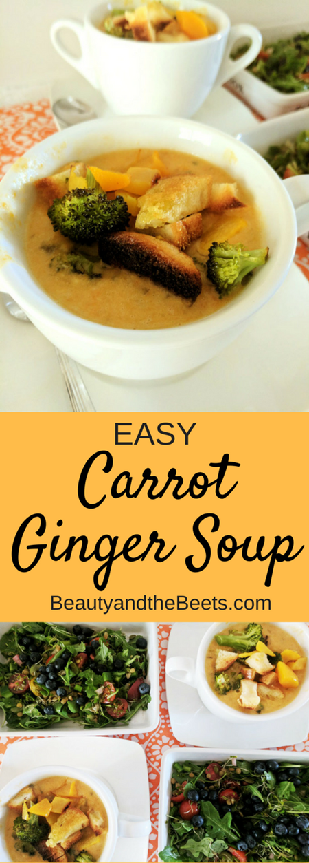 Easy Carrot Ginger soup by Beauty and the Beets