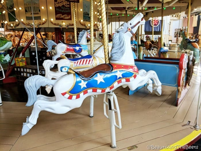 patriotic horses Merry Go Round Museum Sandusky Beauty and the Beets