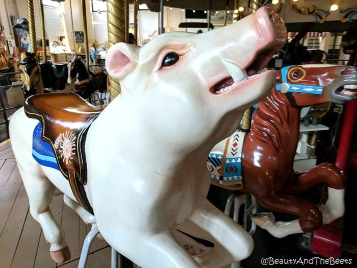 wild boar Merry Go Round Museum Sandusky Beauty and the Beets