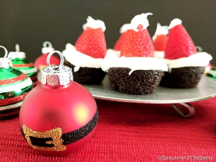 Brownie Santa Hats Beauty and the Beets (7)