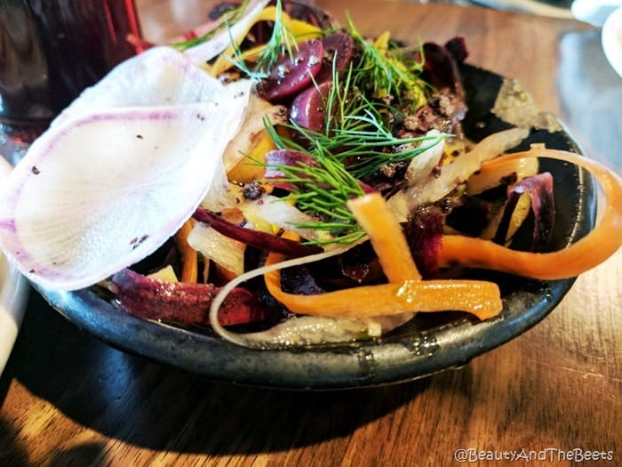 Shaved Root Salad Butcher and Bee Nashville Beauty and the Beets