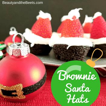 Brownie Santa Hats Beauty and the Beets