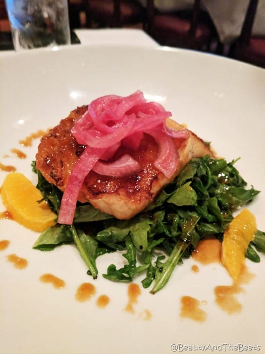 Flemings Prime Steakhouse Beauty and the Beets Chilean sea bass