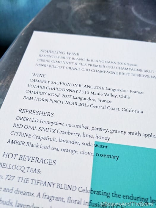 Breakfast at Tiffanys Blue Box Cafe Beauty and the Beets beverage menu