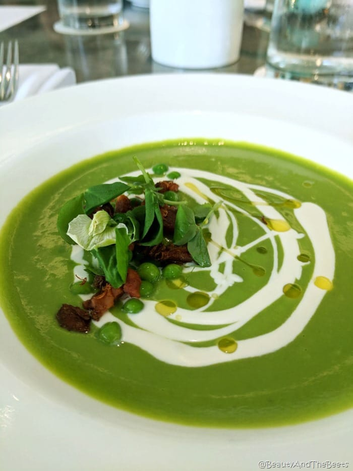 Breakfast at Tiffanys Blue Box Cafe Beauty and the Beets chilled pea soup