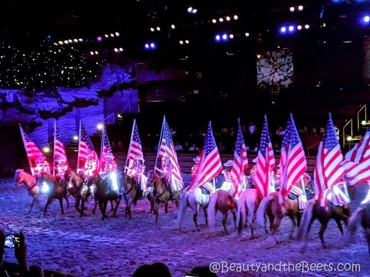 Dolly Parton's Stampede Patriotic Beauty and the Beets