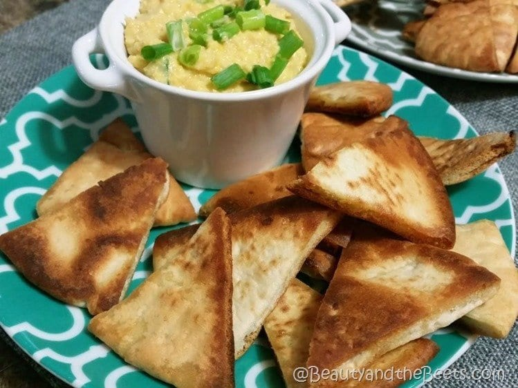 Hummus and pita chips recipe Beauty and the Beets (5)