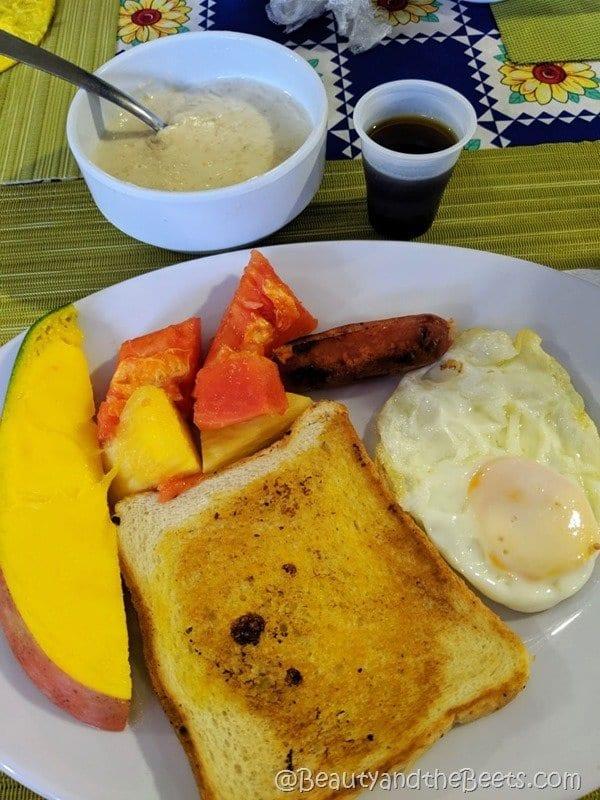 Farina fresh fruit breakfast La Romana mission trip Beauty and the Beets