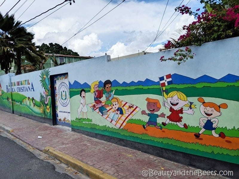 La Romana colorful murals Beauty and the Beets