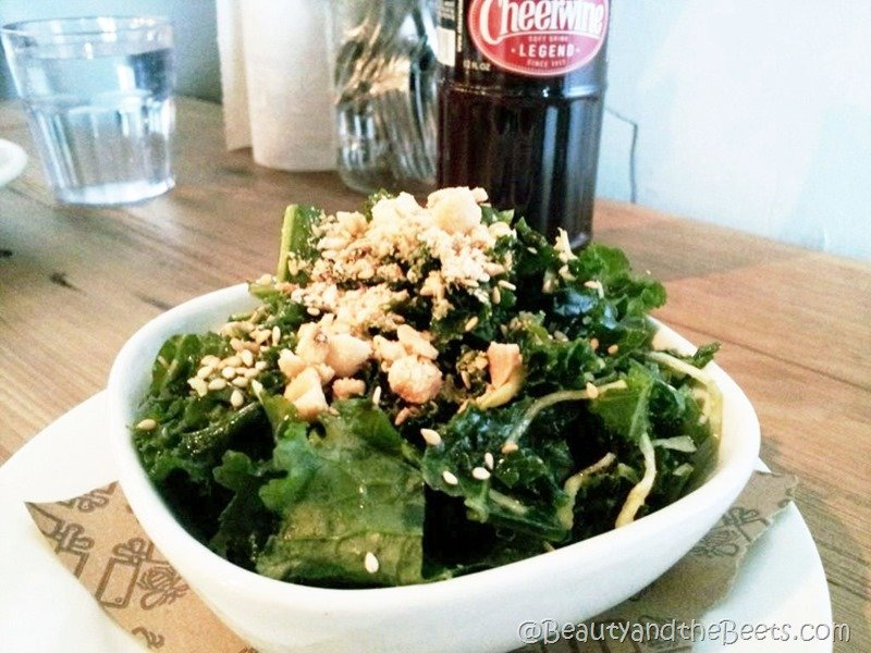 Kale Salad with Peanut Beauty and the Beets