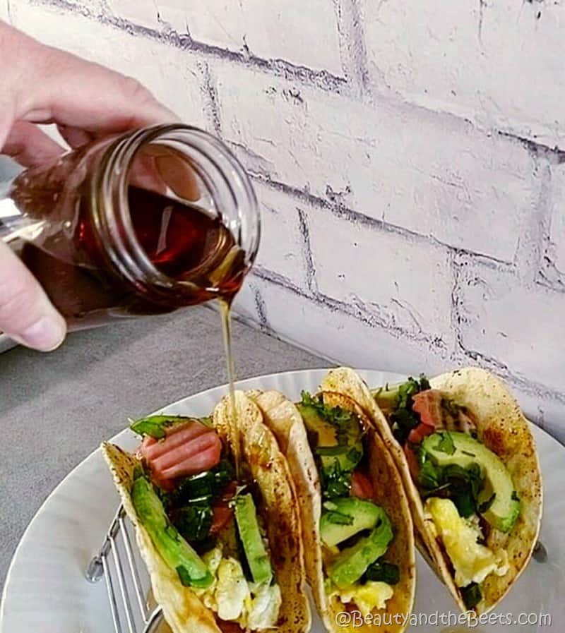 Breakfast Tacos with Syrup Beauty and the Beets